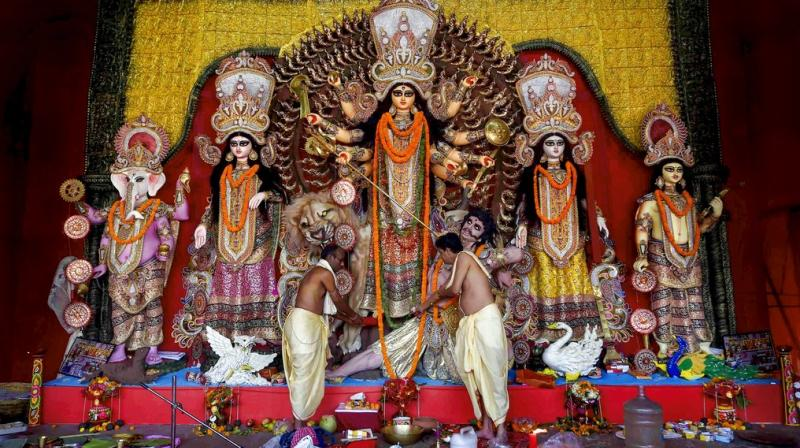 Here is a list of five podcasts that will be helpful to every devotee trying to have a memorable Durga Puja. (Photo: PTI)