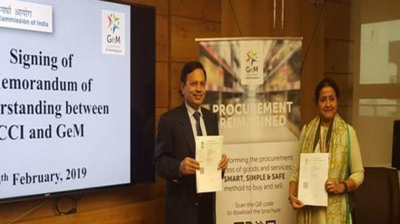 The MoU was inked on February 6 by CCI chairman AK Gupta and CEO, GeM, S Radha Chauhan. (Photo: ANI)