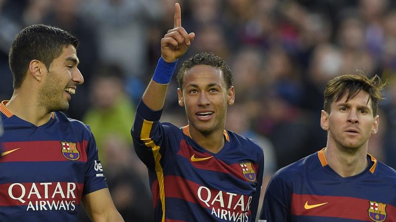 Neymar's move to PSG means that Barcelona's MSN trio has been broken. (Photo: AFP)