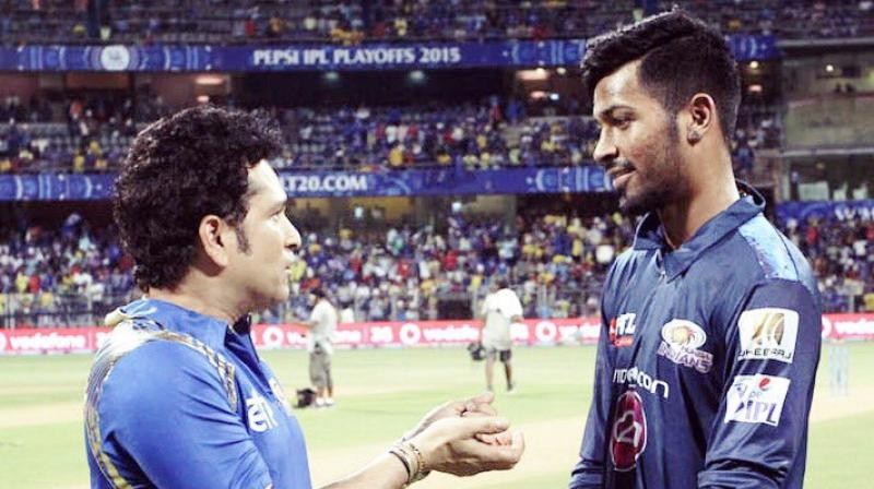 Hardik Pandya has credited former India batsman Sachin Tendulkar for playing a crucial role in his performance, saying that the latter's  words of inspiration gave Pandya the self confidence.(Photo: Hardik Pandya / Twitter)