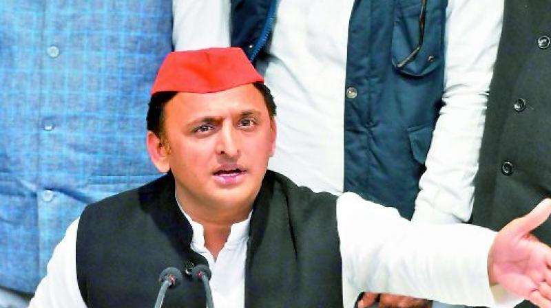 The SP chief made the allegation while addressing a public meeting here on the occasion of the inauguration of a building of the local A K College.  (Photo: File)