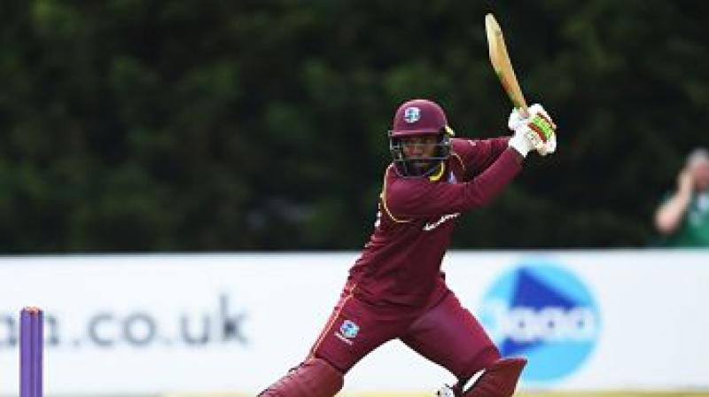 Sunil Ambris made 148, off just 126 balls including 19 fours and a six, as the West Indies surpassed Ireland's total of 327 for five with 13 deliveries remaining on Saturday. (Photo: Westindiescricket/twitter)