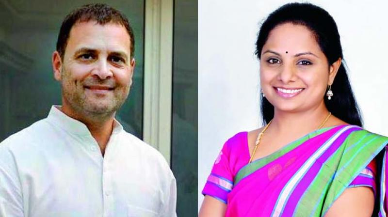 Rahul Gandhi (INC)  son of Sonia Gandhi, lost to  Smriti Irani (BJP) in Amethi and Kalvakuntla Kavitha (TRS),  daughter of Telangana CM K. Chandrasekhar Rao, lost to Arvind Dharmapuri (BJP) - NZB.