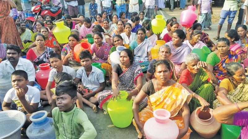 Villagers were upset after officials kept ignoring their requests to supply adequate drinking water.