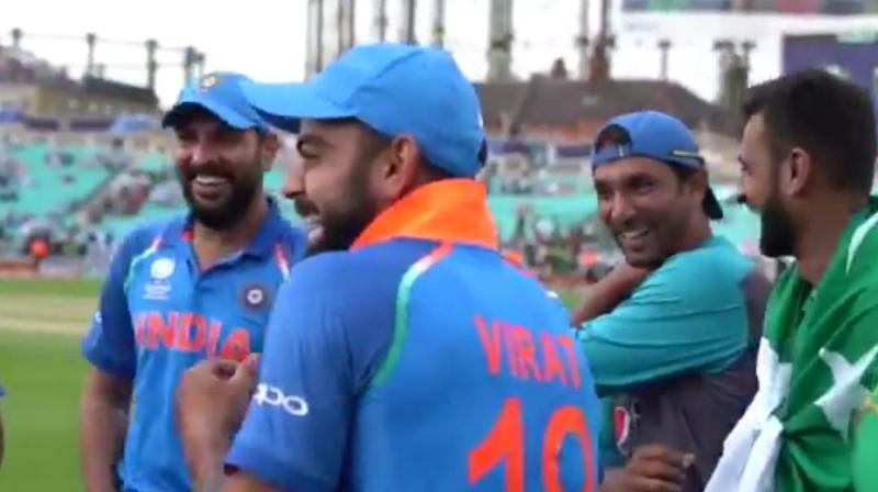 What were Kohli, Malik and Yuvraj laughing about after Champions Trophy final?
