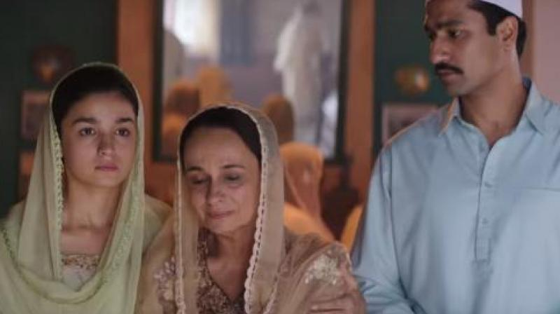 Soni Razdaan in a still from 'Raazi'.