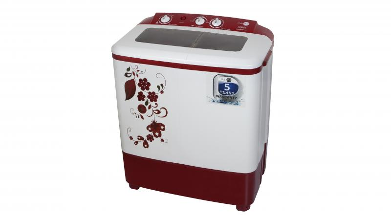 In the shade of Maroon, this semi-automatic washing machine is available in the stores across Punjab, Uttar Pradesh, Haryana and Delhi.