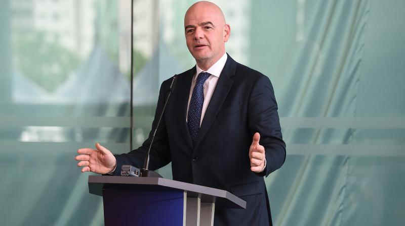 "Infantino said ""Why not?"" bring forward the expansion from 32 teams to 48, which is currently due at the 2026 tournament in the United States, Canada and Mexico. (Photo: AFP)"