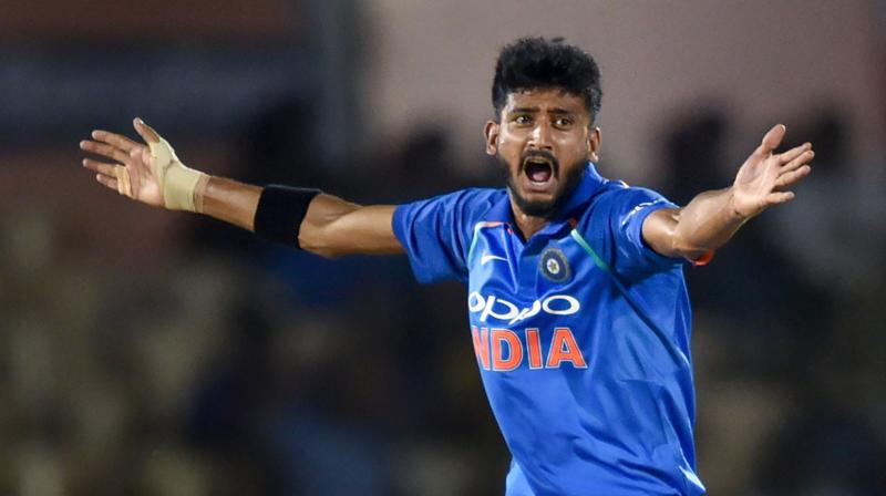 Khaleel took 3 for 13 in the fourth ODI in Mumbai to trigger the West Indies' collapse in pursuit of a mammoth 378 for victory. (Photo: PTI)