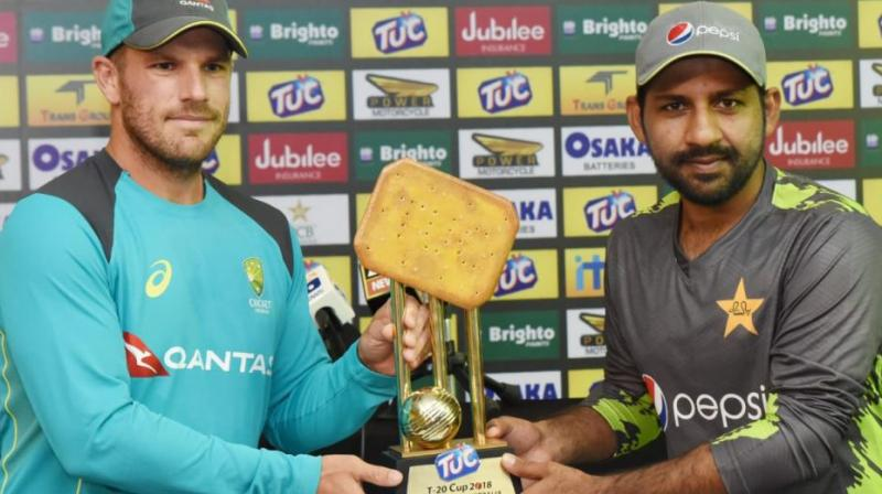 The silverware for the T20 series was trolled across social media platforms, and the International Cricket Council (ICC) added fuel to the fire by comparing it with the Champions Trophy silverware. (Photo: PCB/Twitter)