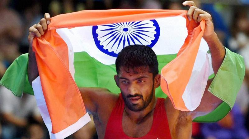 Yogeshwar said since both he and Bajrang compete in 65kg, there was a possibility of him moving up the weight category. (Photo: PTI)