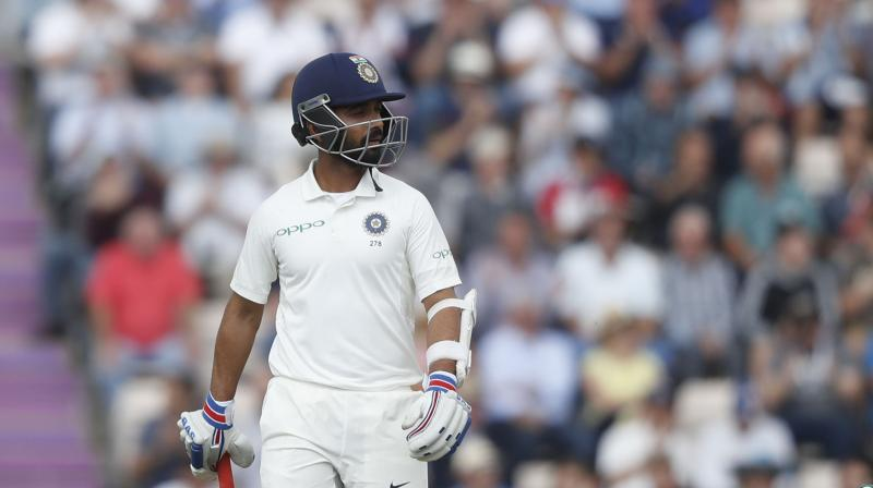 Vice-captain Ajinkya Rahane on Thursday blamed the Indian team's much-vaunted batting line-up's failure to complement the bowlers for their Test series defeat in England. (Photo: AP)