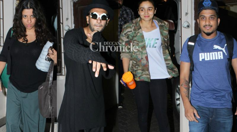 The team of the film 'Gully Boy' were snapped first time, as they met at a studio in Mumbai late on Wednesday. (Photo: Viral Bhayani)