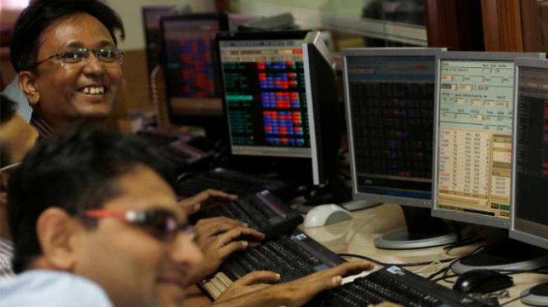 The 50-scrip NSE Nifty finished 49.80 points, or 0.50 per cent, down at 10,888.80, after touching a low of 10,857.10 and a high of 10,930.90 during the session. (Photo: AP)