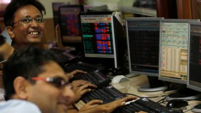 The broader NSE Nifty too spiked 122.35 points, or 1.07 per cent, to settle at 11,586.35. (Photo: File | AP)
