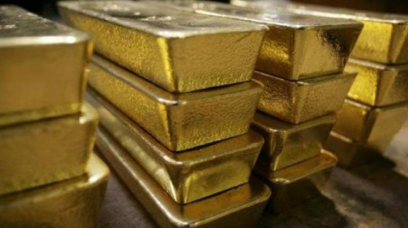 Globally, gold traded lower at USD 1,303.94 an ounce, while silver was down at USD 15.63 an ounce in New York.