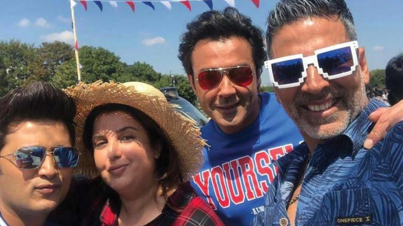 Farah Khan took up social media to share her happiness to begin shooting for the 1st song of Housefull 4.