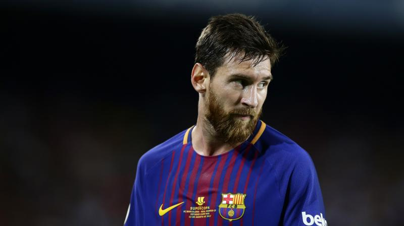 The contract Messi signed last November includes a clause that he must remain a Barcelona player only as long as the club is playing in