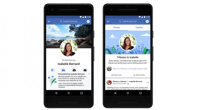 The new tributes section expands on this, creating a separate tab on memorialized profiles where friends and family can share posts.