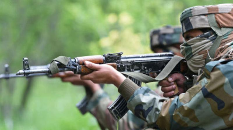 The firefight between security forces and insurgents occurred at 4:45 hours in the morning. (Photo: PTI/Representational)