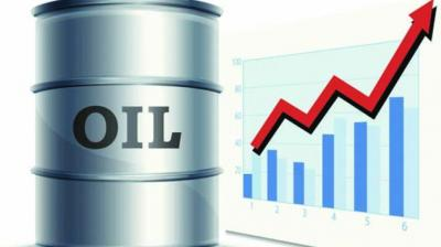 On the Multi Commodity Exchange, crude for September contracts went up by Re 1, or 0.02 per cent, to Rs 4,139 per barrel in a business turnover of 18,539 lots.