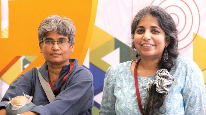 Uma Tanuku and Anupama Chandra, makers of the documentary The Books We Made. (Photo: DC)