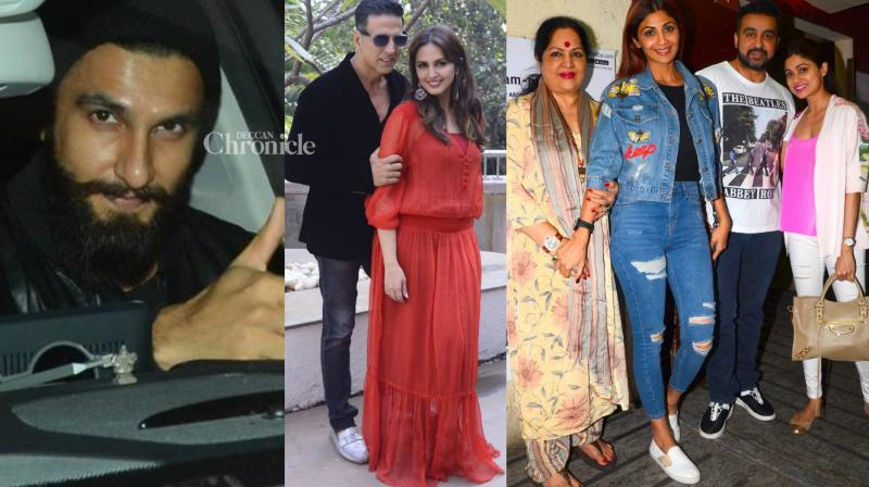 Numerous Bollywood stars were snapped by shutterbugs at various locations in Mumbai on Sunday. (Photo: Viral Bhayani)