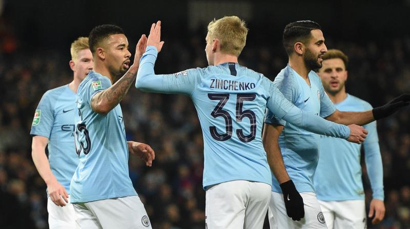 Manager Pep Guardiola fielded a strong starting line-up and City quickly established their dominance. (Photo: AFP)