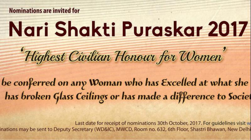 Sheela Balaji, chairperson and managing trustee of AIM for Seva and Swami Dayananda Educational Trust received the Nari Shakti Puraskar 2017 for her outstanding contribution to women's empowerment. (Representational image)