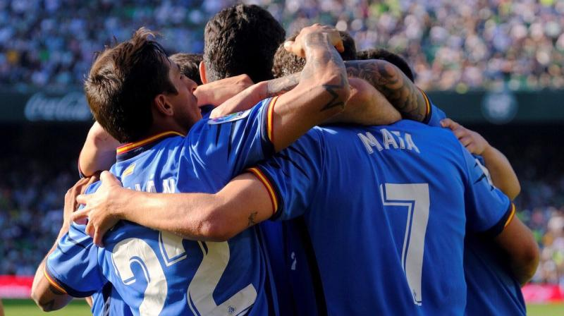 Getafe sit fourth on 58 points, three ahead of Valencia, and would ensure their place in Europe's premier club competition next season with four points from their remaining two La Liga fixtures. (Photo: Getafe twitter)
