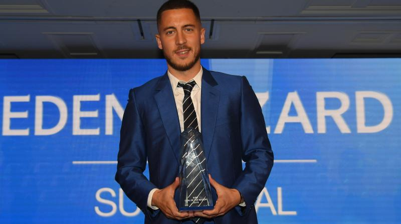 Hazard has dominated Chelsea's Player of the Year award in recent years. He won the award for the fourth consecutive time this year. (Photo: ChelseaFC/Twitter)