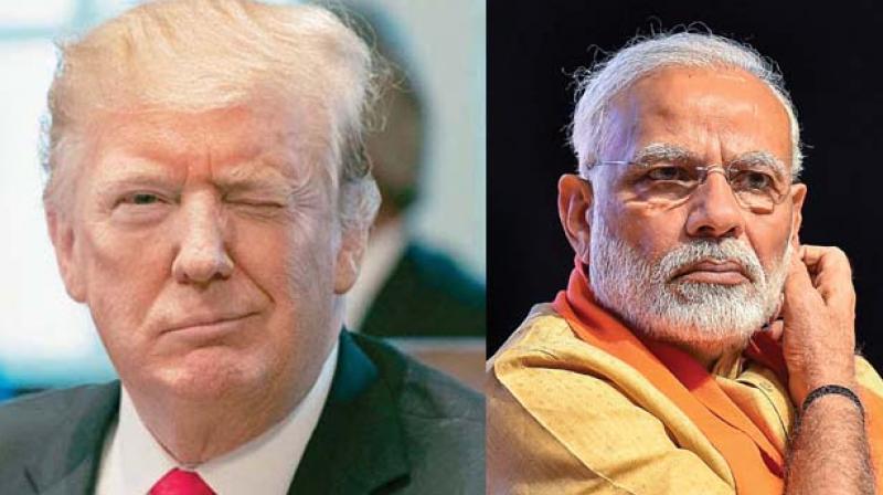 Donald Trump and PM Narendra Modi