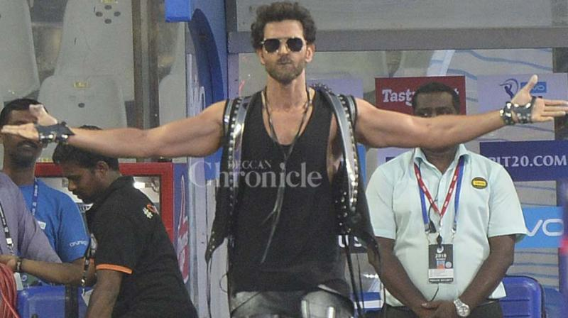 Hrithik Roshan at the opening ceremony of IPL 2018. (Photo: Rajesh Jadhav)