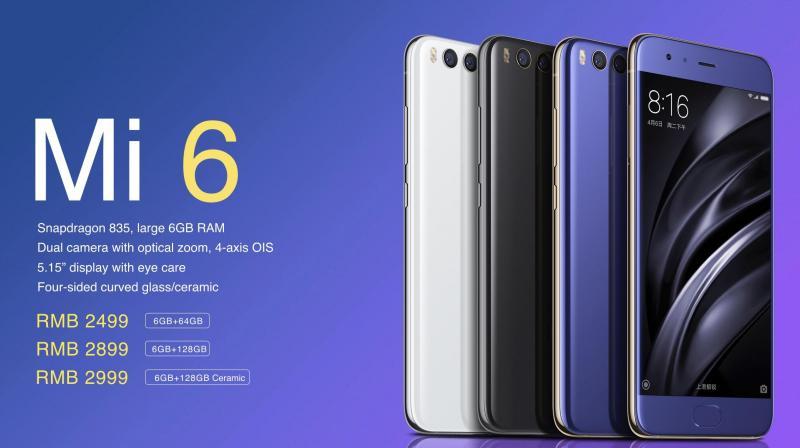 Xiaomi reveals the Mi 6 – SD835, dual rear camera, price