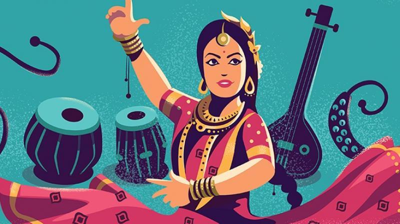 Google Doodle celebrates Kathak legend Sitara Devi's birthday. (Photo: Google)