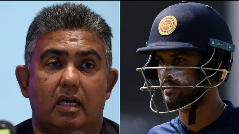 """Sri Lanka captain Dinesh Chandimal was on Thursday asked whether he sought any blessing from """"meyni"""" (sorcerer) ahead of their gruelling India tour as team manager Asanka Gurusinha promptly came to his defence to avoid any further embarrassment.(Photo: AFP)"""