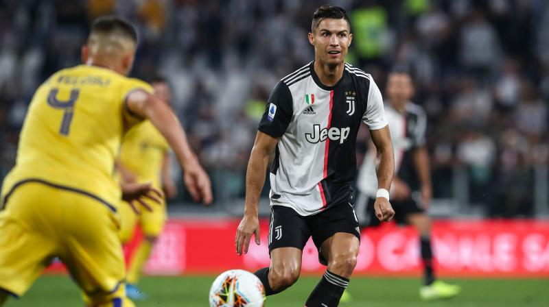 Goals from Aaron Ramsey and Cristiano Ronaldo helped Juventus to come from behind to beat Hellas Verona 2-1 at the Juventus Stadium on Saturday. (Photo:AFP)