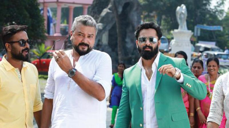 A still from the movie Achayans