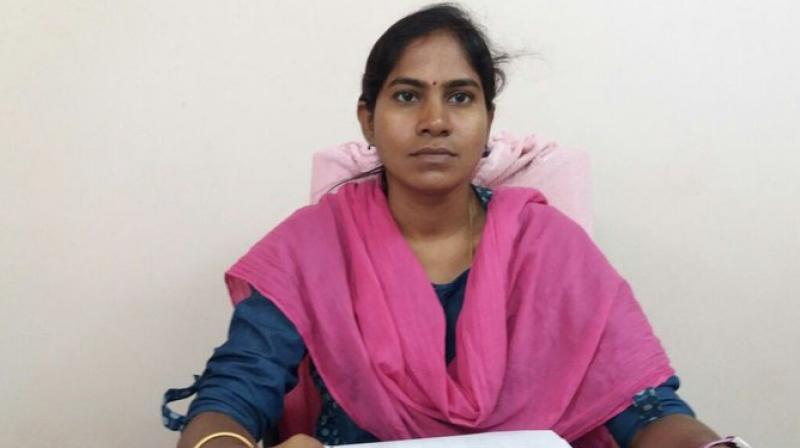 Vijaya Reddy, in her mid 30s, died on the spot and two other staff in the office were injured trying to rescue her. (Photo: Twitter)