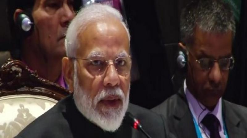 The Prime Minister had said earlier that India remains committed to a comprehensive and balanced outcome of RCEP negotiations and seeks balance across goods, services and investments and also within each pillar. (Photo: ANI)