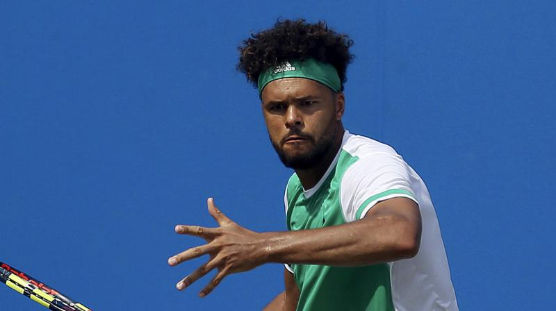 Fifth seeded Tsonga is traditionally a powerful force on grass and finished as Queen's runner-up in 2011, while twice appearing in the Wimbledon semi-finals.(Photo: AP)