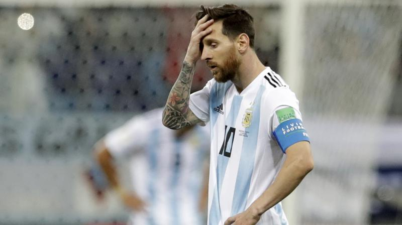 Messi had a disappointing first thirty minutes of the match as he was not able to get into the match. (Photo: AP)