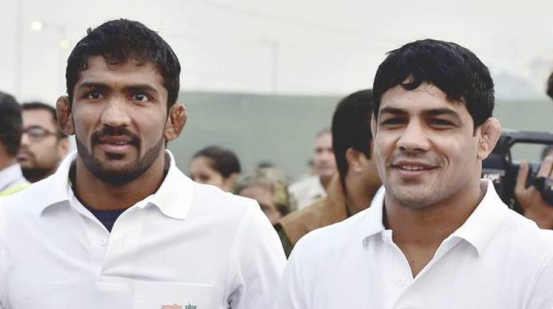 While Sushil Kumar was not a part of the Indian squad at the Rio Games last year following a snub by the WFI, Yogeshwar Dutt, who bowed out in the first round, had already made it clear that Rio was his last Olympics. (Photo: PTI)