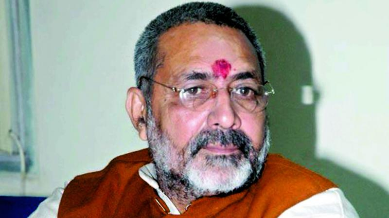 Union Minister Giriraj Singh on Saturday said the time has come for him to take retirement from politics and assured that he will do so once a law to control population control is implemented. (Photo: File)