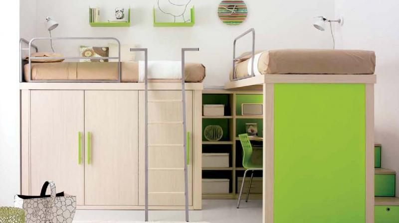 The bunk bed and closet alternative is very useful