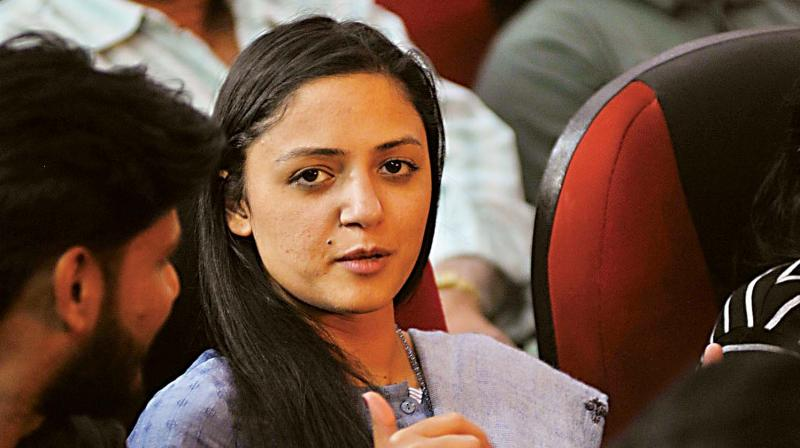 When asked by a reporter to give evidence for the claims she made on Twitter, Shehla Rashid said, 'Why should I give evidence to you? Why shouldn't I tweet? Has it been banned under the Modi government?' (Photo: DC)