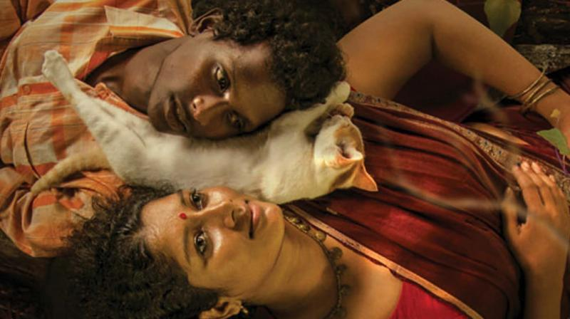 The movie narrates the story of Gulikan (Mani) and his wife Madhi, who live among a small gypsy tribe near a dense forest.