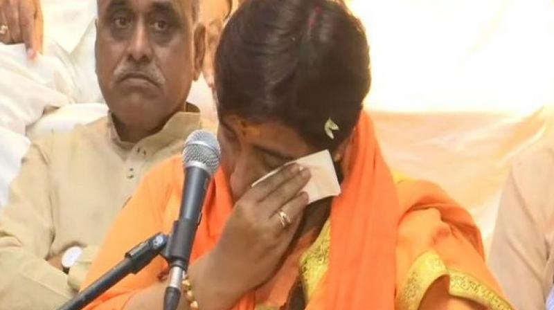 She also claimed that she was beaten because the interrogators wanted her to confess that she had carried out a blast and killed Muslims. (Photo: ANI)