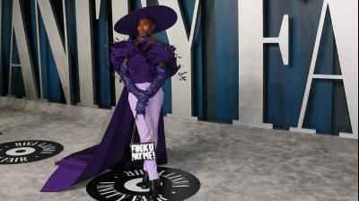 US actor Billy Porter attends the 2020 Vanity Fair Oscar Party following the 92nd Oscars. AFP Photo