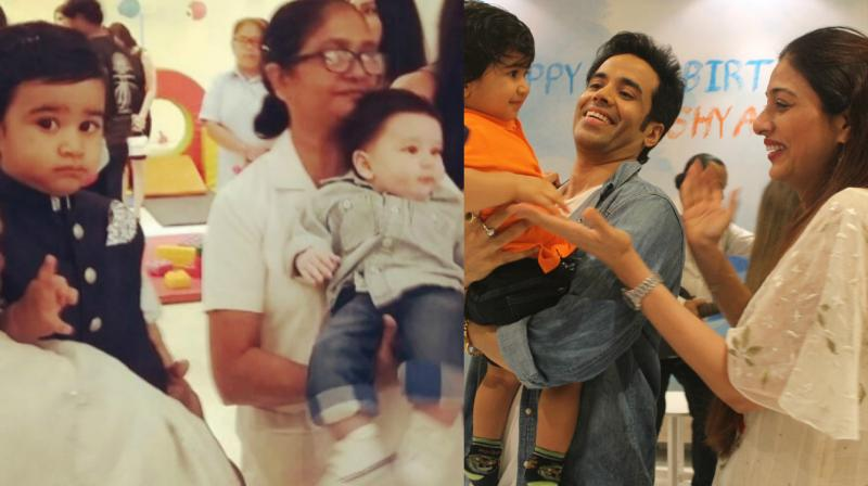 Tusshar Kapoor's son Laksshya celebrated his first birthday with grand celebrations, attended by numerous celebrities at their house in Mumbai on Thursday.